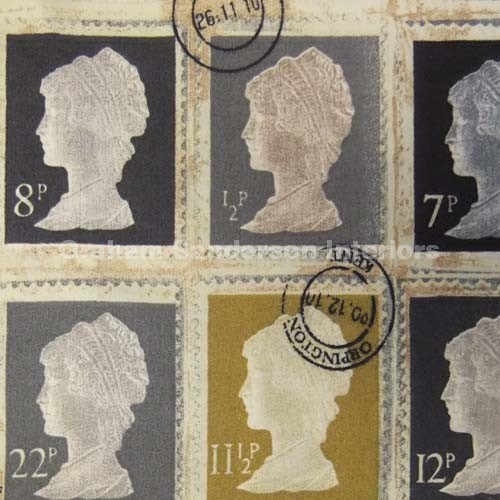 Re Postage Stamp Fabric The Prestigious One Is Called First Class Click Image For Larger Version Name Firstclass Charcoal M Views 1 Size 939
